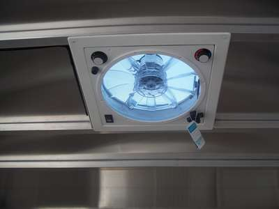 Roof Mounted Exhaust Fan Wired To Battery Thermostat Control